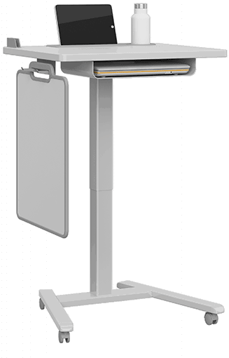Features of the Haskell Fuzion Series Sit-to-Stand Desks and Lecterns
