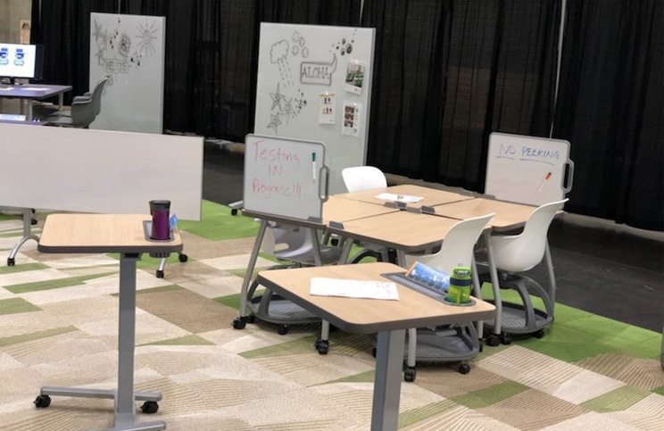 Haskell Sit to Stand Desks and Marker Erase Boards
